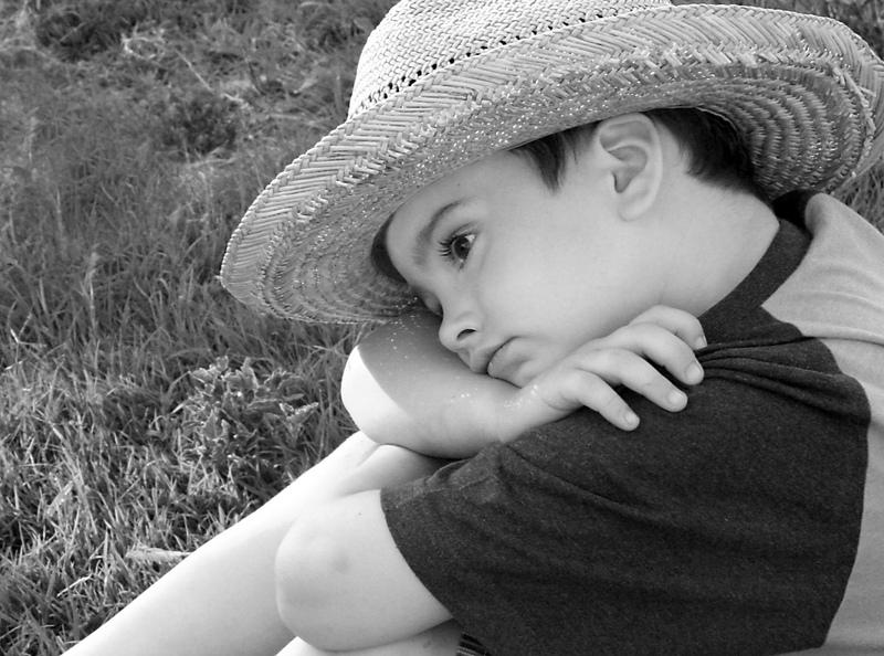 ser un niño Pensativo